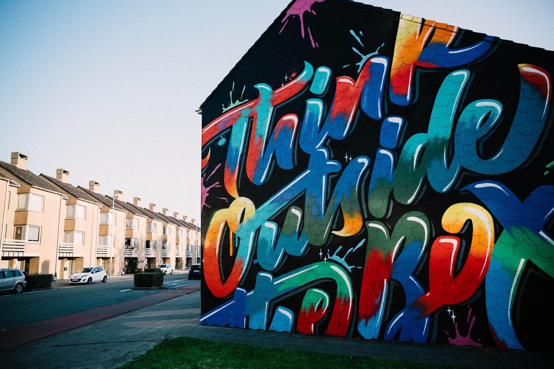 Urban Art Tag vs Nacht - Seepia Fotografie